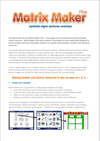 Matrix Maker Plus Handout