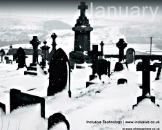Desktop Wallpaper: January Black and White