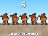 Five Brown Teddies