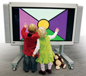 Children using the Plasma