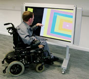 Wheelchair user using the Plasma